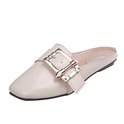 RAINED-Woman's Flat Slingback Mules Slip on Sandals Fashion Dress Slippers Classic Shoes Outdoor Flat Loafer Shoes