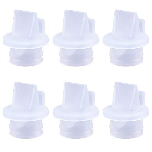 CNNIK Accesorios de sacaleches, Válvulas de pico de pato para la mayoría de los extractores de leche, Válvulas de pico de pato de silicona reemplazables, sin BPA/DEHP (paquete de 6)