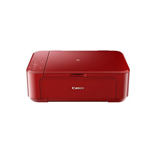 Canon PIXMA MG3650S Drucker Farbtintenstrahl DIN A4 (Scanner, Kopierer, Bürodrucker, 4.800 x 1.200 dpi, WLAN, Apple AirPrint, automatischer Duplexdruck) rot