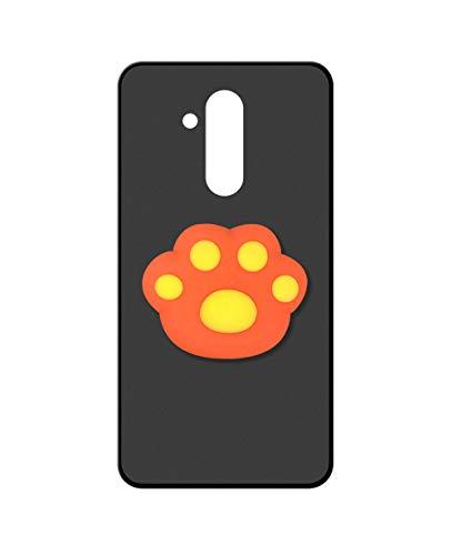 Sunrive Kompatibel mit alcatel A7 XL Hülle Silikon, Ständer Fingerhalter Fingerhalterung Handyhülle matt Schutzhülle Etui Hülle (Orange Katze Hand) MEHRWEG