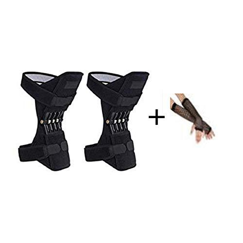 Vaycally Joint Support Knee Pads Potente rebote Spring Force Knee Support - Para la artritis, Únase al alivio del dolor, Dolor de menisco, Recuperación, Gimnasio, Deportes, Baloncesto, Correr, Esquiar