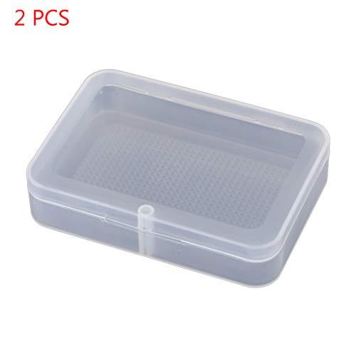 yuwei 2 Transparent Kartenhalter in Plastikkarte Aufbewahrungsbox Element Verpackung, kann Packaged Cards, Schrauben Be, Schmuck