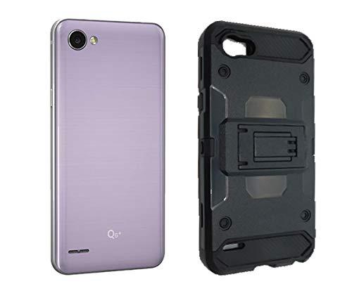 iSpace Funda Protectora Uso Rudo con Clip Robot Case para LG Q6 Prime/Plus/Alpha + Mica DE Cristal…