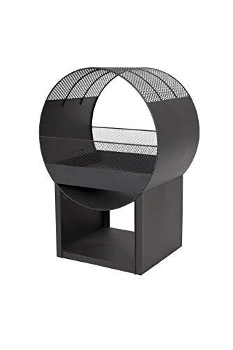 Buschbeck Feuerstelle Porthole, schwarz, B/H/T: ca. 56x80x40 cm
