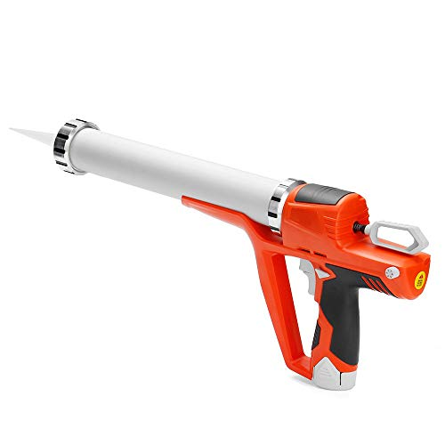 ZXX. Pistolas de calafateo sin Cable eléctricas, Pistola de calafateo eléctrica, Pistolas de Sellado de Goma Dura de Vidrio de Mano, 12V máx, con batería de Iones de Litio de 2 Piezas, para el hogar