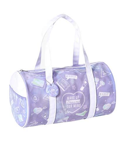 [nissen(ニッセン)] プールバッグ バッグ(鞄) ロール型ビーチバック(子供 女の子 ジュニア) ラベンダー系(コスモチラシ) F
