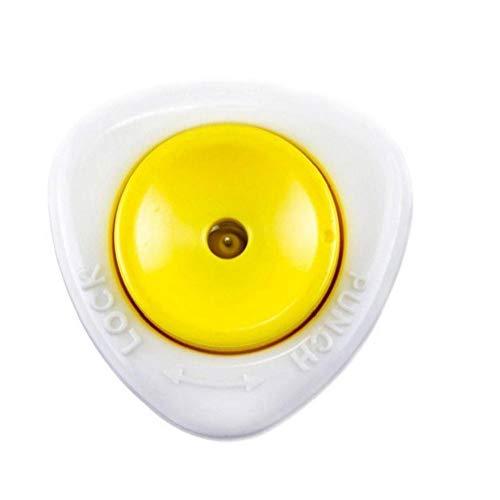 Hiinice Ponche de Huevo Huevo Huevo taladrador Perforadora Punzón Herramienta de la Cocina Semi-automático con Bloqueo de Seguridad Blanco Amarillo