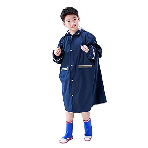 FAFZ Adulti/Bambini Giacca A Vento Giacca A Vento, Possono Camminare/Zaino/Corsa Multifunzionale Impermeabile Poncho, Adatto A Rainy Days, Campeggio, di Corsa Esterna (Size : 4XL)