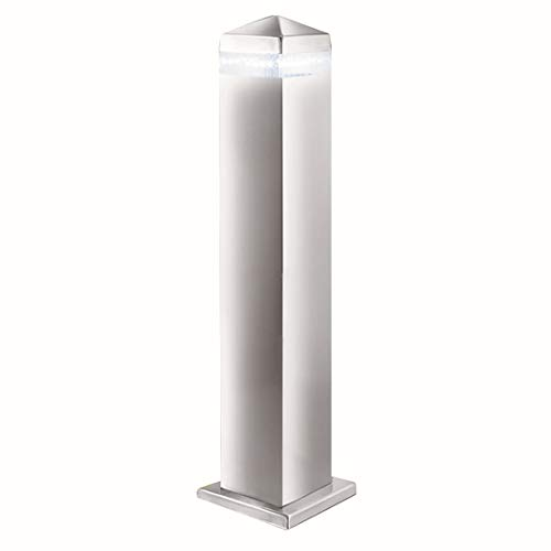 ZARCHLIGHT 7202-450 - 45 cm SATIN ZILVER SQUARE UP POST - 16 LED's