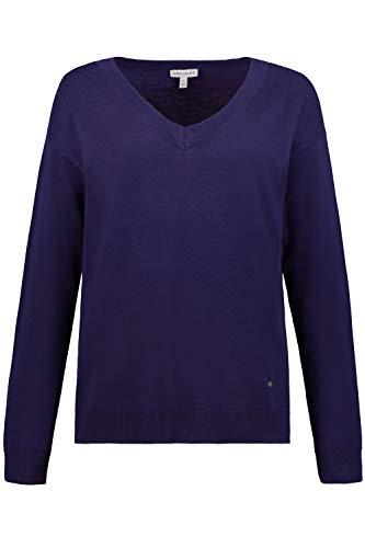 GINA LAURA Damen Pullover, Oversized, V-Ausschnitt, weicher Feinstrick aubergine XXL 725059 84-XXL