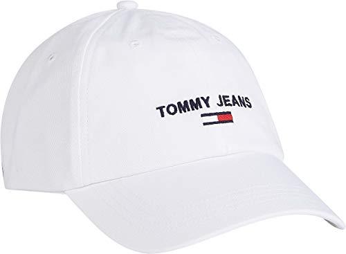 Tommy Jeans Herren TJM SPORT CAP Verschluss, White, One Size