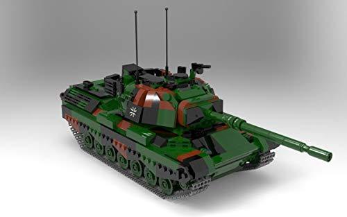 BlueBrixx 06049 Marke Xingbao – Kampfpanzer Leopard 1, Bundeswehr aus Klemmbausteinen mit 1145 Bauelementen. Kompatibel mit Lego. Lieferung in Originalverpackung.