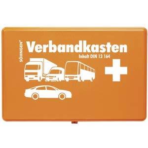 Söhngen KFZ-Verbandkasten Kunststoff orange mit Füllung Standard DIN 13164