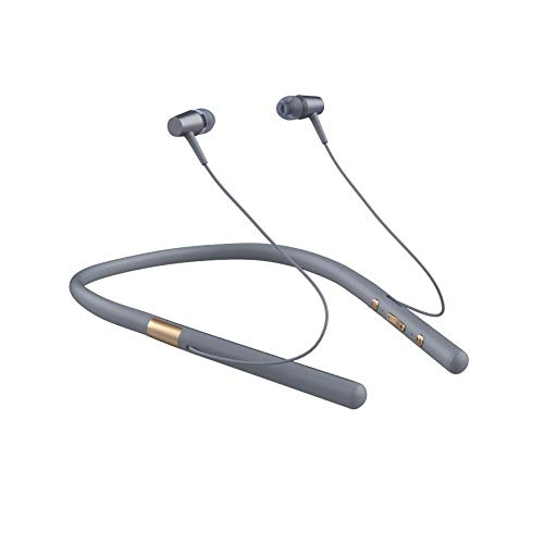 LQC Bluetooth, 2 en 1 inalámbrico Auriculares con mp3 Bluetoot V5.0 Deportes Auricular Banda for el Cuello estéreo Bluetooth Manos Libres Auricular con micrófono Ranura de Memoria (Color : C)