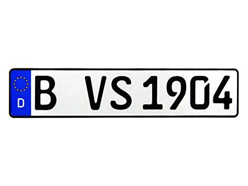 VooSale 1 DIN zertifiziertes Eurokennzeichen in der Standard-Größe 520mm x 110mm mit ihrer Wunschprägung auch für Fahrradträger geeignet in Top Qualität