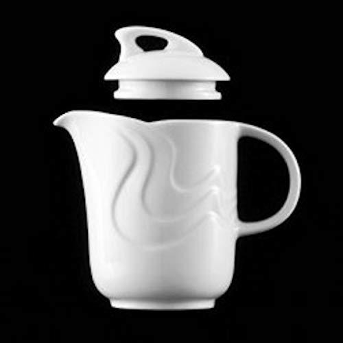 BENEDIKT-Teiera,Caffettiera 0,3 lt.Porcellana Bianca