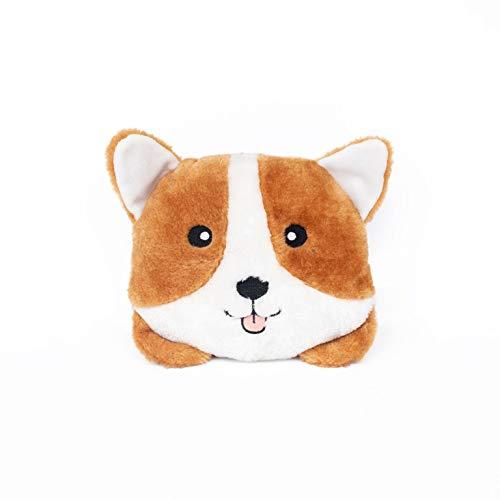 ZippyPaws - Bun Matching Dog Breed Plush Pillow Dog Toy - Corgi