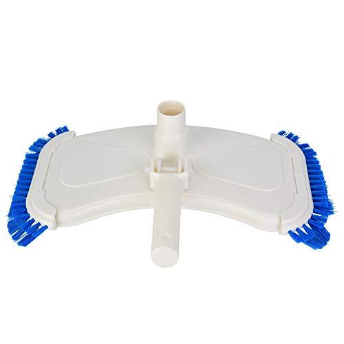 Ymiko Saugvakuumkopf für Schwimmbäder SPA-Vakuumkopf mit Seitenbürste und Bodenbürste zur Reinigung des Pools, passend für die meisten Teleskopstangen des Pools