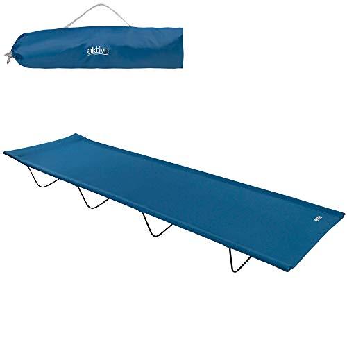 Aktive 52859 - Tumbona plegable, cama plegable camping, tumbona playa, tumbona plegable...