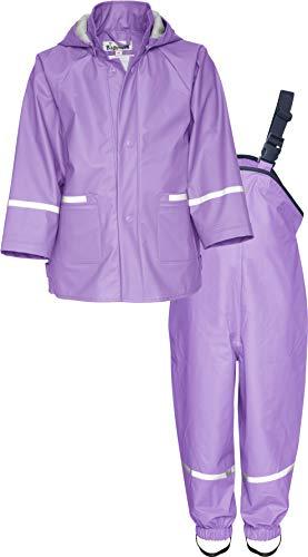 Playshoes Baby-Mädchen Regenanzug, Regen-Set Basic Regenjacke, Violett (Flieder 10), Herstellergröße: 74