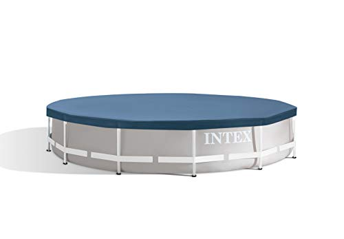 Intex 28031E N/AA 12 ft. Metal Frame Above Ground Pool Cover, 1 Pack, Blue