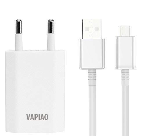 VAPIAO Micro USB Ladegerät [Ladekabel und Netzteil] Ladeset 2 Meter Set passend für Samsung Galaxy S3, S4, S5, S6, S7, Huawei P u.v.m in weiß