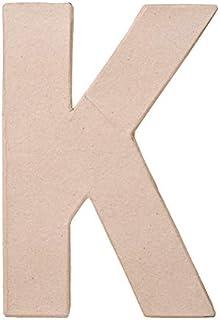 Darice Paper Mache Letter - K - 8 x 5.5 x 1 inches