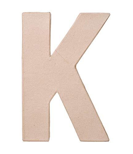 Paper Mache Letter - K - 8 x 5.5 x 1 inches