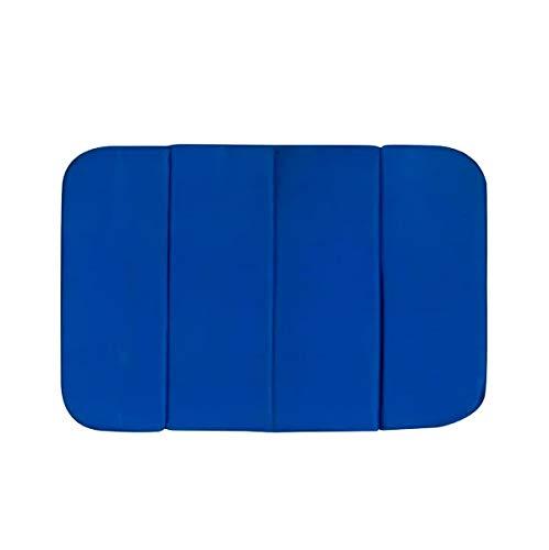 アサヒ興洋 携帯クッション 折りたたみ ネイビー 座布団 レジャークッション 約縦26×横37×厚さ1.2cm コンパクトで持ち運び便利 収納袋付き 1人用