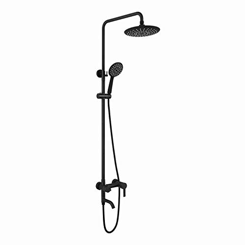 Termostato con cabezal de ducha de acero inoxidable 304 cromado -Juego de ducha de acero inoxidable negro, grifo de ducha de baño, cabezal de ducha de lluvia
