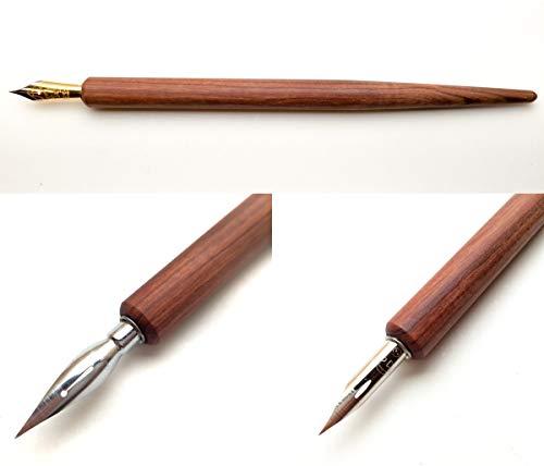 天然木 プロ仕様 高級ペン軸 (ストレート軸:ローズウッド イタリア製)