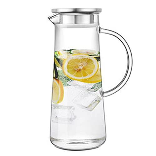 Hervidor de agua de gran capacidad, taza de agua, tetera, cafetera, con asa y tapa de acero inoxidable, apto para té perfumado, limonada, jugo, café (1500 ml)