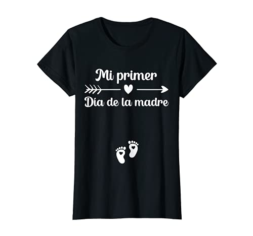 Mujer Primer Día de la Madre Anuncio Embarazadas Mamá en Práctias Camiseta