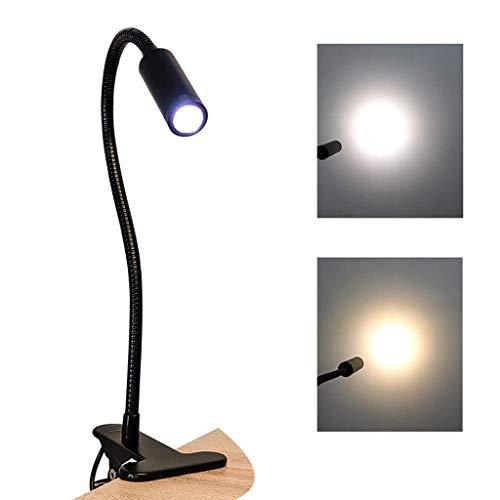 Flexible Klipp Auf Buch-licht-leselicht-eye-fürsorglichen Usb Aufladbare Push Button Tragbare Biegsame Hals for Lesen Im Bett Kindle Tablet Notenständer Travel (schwarz) (Color : Warm light)