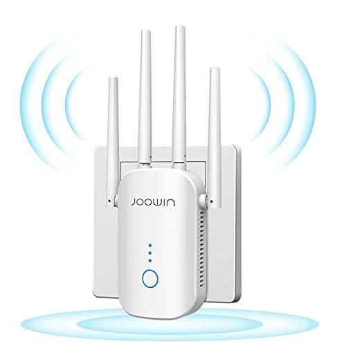 JOOWIN Repetidor WiFi 1200Mbps Amplificador WiFi Extensor 2.4GHz/5Ghz Banda Dual WiFi Extensor Amplificador Largo Alcance, Modo Punto de Acceso/Repetidor/enrutador, Fácil de configurar