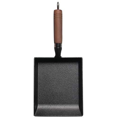 Niet Sticky Casting Iron Pan steenlaag Frying Pot Steelpan Kleine Fried Egg Pot Met Gas En Cooker General, Zwart, 15cm stalen koekenpan,dsnmm (Color : Black, Size : 15cm)