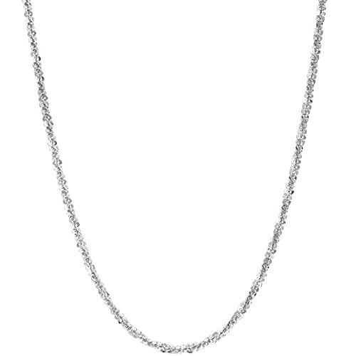 WQZYY&ASDCD Collar De Mujer Genuino 925 Plata Esterlina Gypsophila Collar Elegante Sexy Collar Cuadrado Collar Damas Lujo Joyería-Argent_