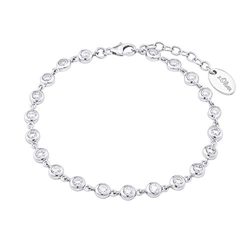 s.Oliver Armkette für Damen, Sterling Silber 925, Zirkonia