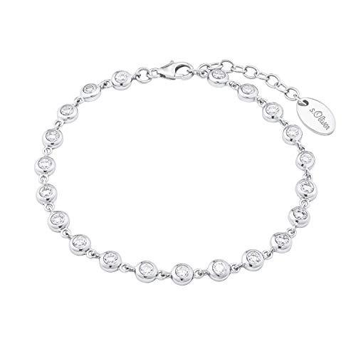 s.Oliver Armkette für Damen Armkette mit Zirkonia, 925er Sterling Silber