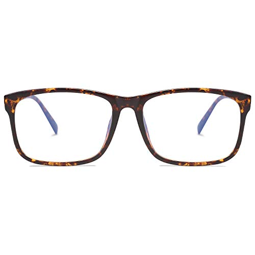 SOJOS Blue Light Blocking Glasses Square Eyeglasses Frame Anti Blue Ray Computer Game Glasses SJ5034 with Tortoise Frame/Anti-Blue Light Lens