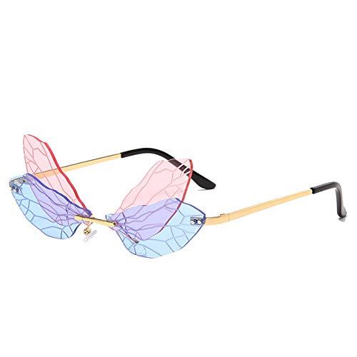 XMYNB Gafas de sol Fashionless Sunglasses De Sol De Moda Diseño De Marca Mujer Vintage Metal Mariposa Gafas De Sol Gafas De Lujo Uv400 Shades Gafas