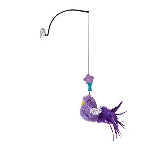 KONG – Connects Window Teaser (Farbvar.) – Farbenfroher Vogel zum Anregen der Katzenspiele