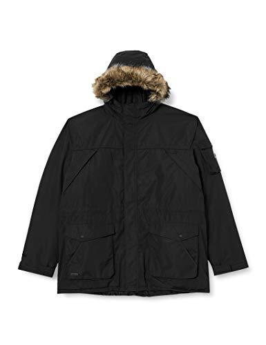 Regatta Salinger II Chaqueta Impermeable y Transpirable, con Capucha con Ribete extraíble en Pelo sintético Jackets Waterproof Insulated, Hombre, Black, 5XL