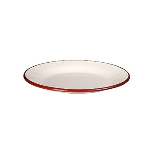 IBILI 908124 Assiette Plate, Papier, Blanc/Rouge, 24 cm