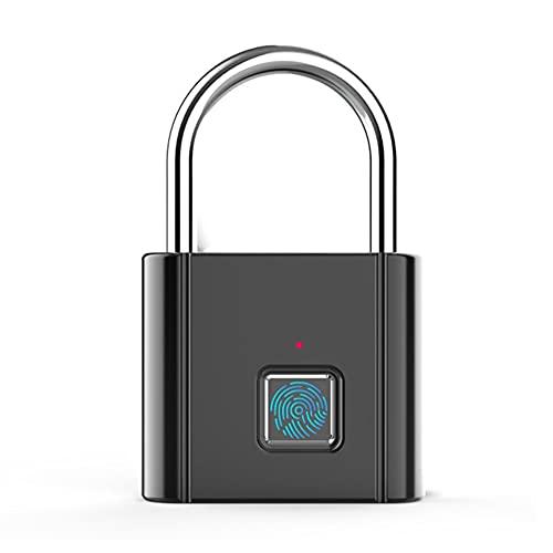 LeftSuper Zinc Alloy Usb Charging Fingerprint Padlock Rechargeable Door Lock Smart Padlock Quick Unlock Metal Self-Development Chip