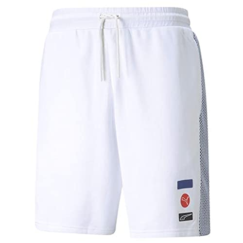 PUMA DECOR8 - Pantalones cortos para hombre, Puma White., XXL