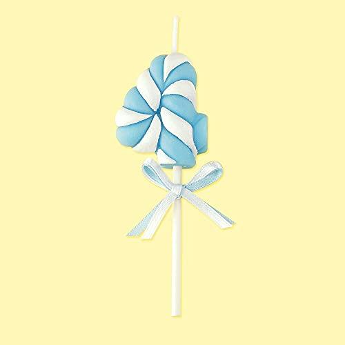 LANHUAN Compleanno Figura Candela/Blu Bowknot Numero Candela/Bambino Compleanno Anniversario Rosa Fa a Mano Profumo Candela (Color : Blue 4)