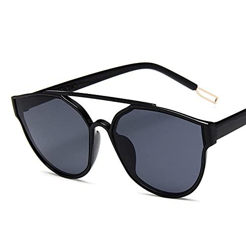 Astemdhj Gafas de Sol Sunglasses Vintage Street Beat Gafas De Sol Mujer Diseñador Lente Oceánica Espejo Gafas De Compras Uv400 BlackgrayAnti-UV