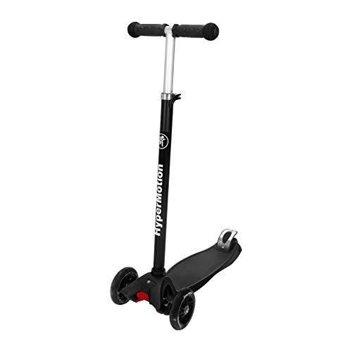 HyperMotion, Patinete Balance Scooter para niños de más de 5 años, Patinete con Ruedas LED para Adolescentes, triciclos con Manillar de Altura Ajustable, Color Negro