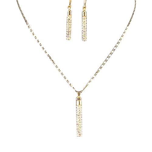abbybubble Accesorios Collar de diseño novedoso Cadena de clavícula Collar de Pendientes de Pilar Redondo con Tachuelas Creativas de Moda